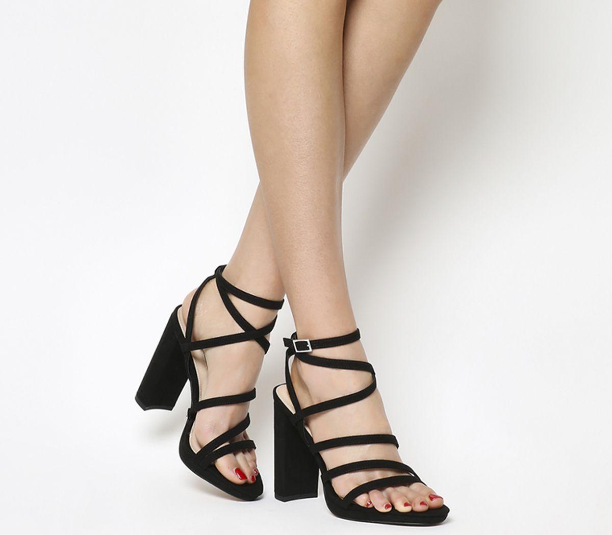 640a75bd3d6 Office Harris New Platform Block Heels Black - High Heels