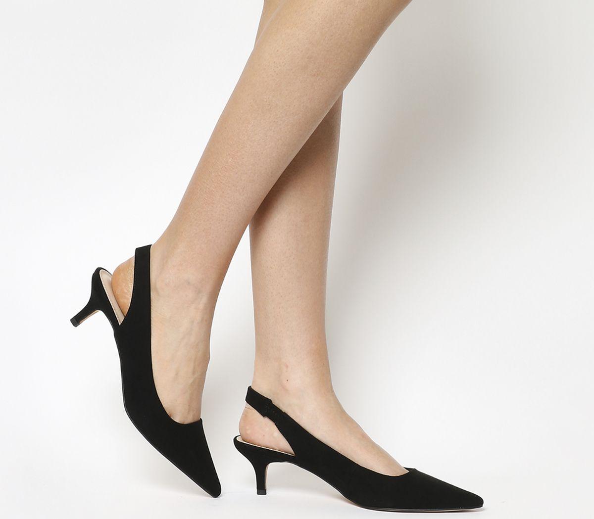 d4689acf86e Office Make It Slingback Kitten Heels Black - Mid Heels