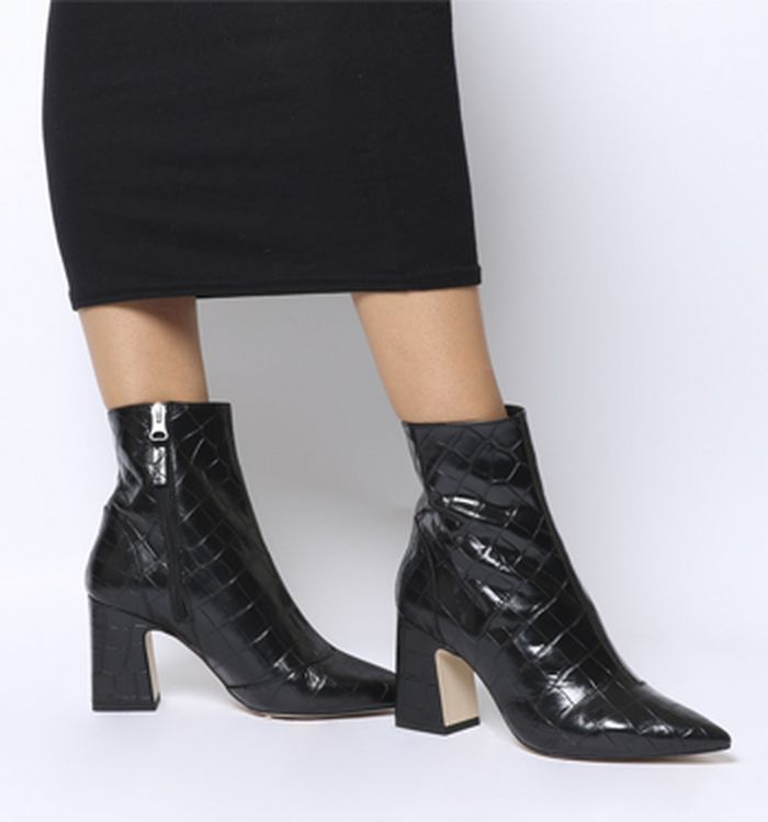 56abcc704aeb Aquarius Low Platform Boots Black Leather. £96.00. Quickbuy. 12-10-2018 ·  Office Alto Pointed Block Heels