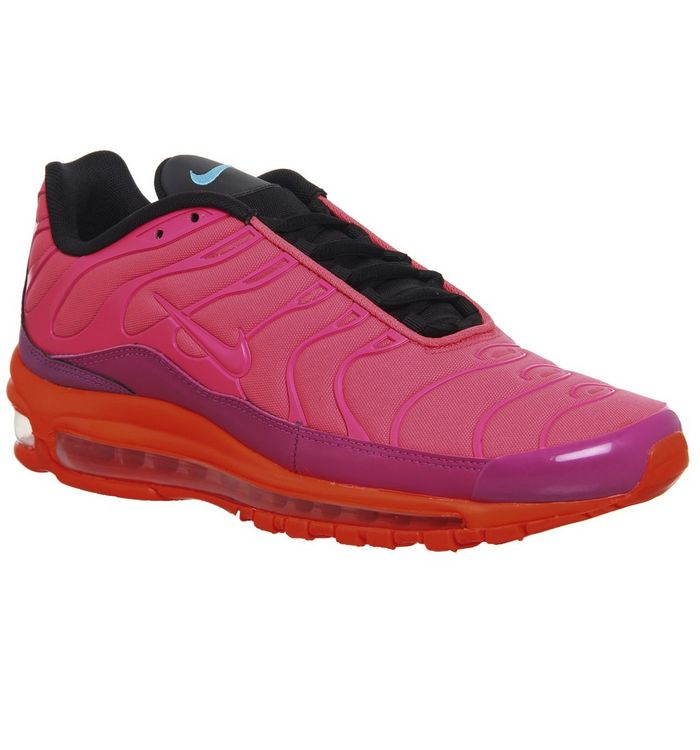 b351a028b5 ... Nike, Air Max 97 Plus Trainers, Racer Pink Hyper Magenta Crimson Black  ...