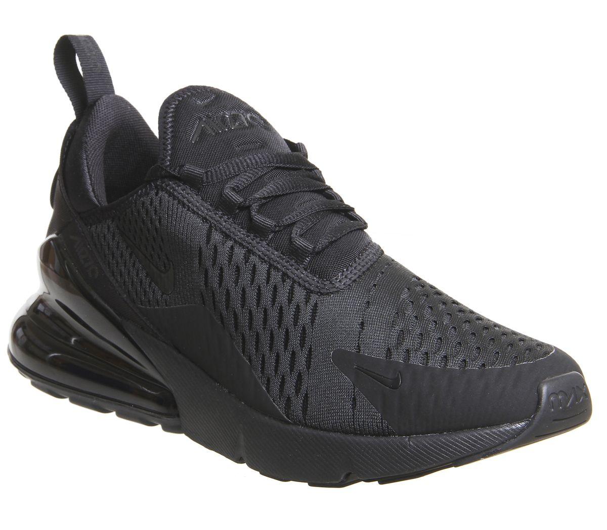 9a611ba87c Nike Air Max 270 Trainers Black Black F - Hers trainers