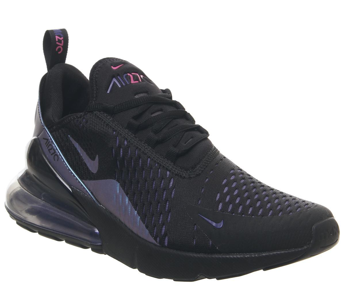 Nike Air Max 270 Trainers Black Laser Fuchsia Regency Purple