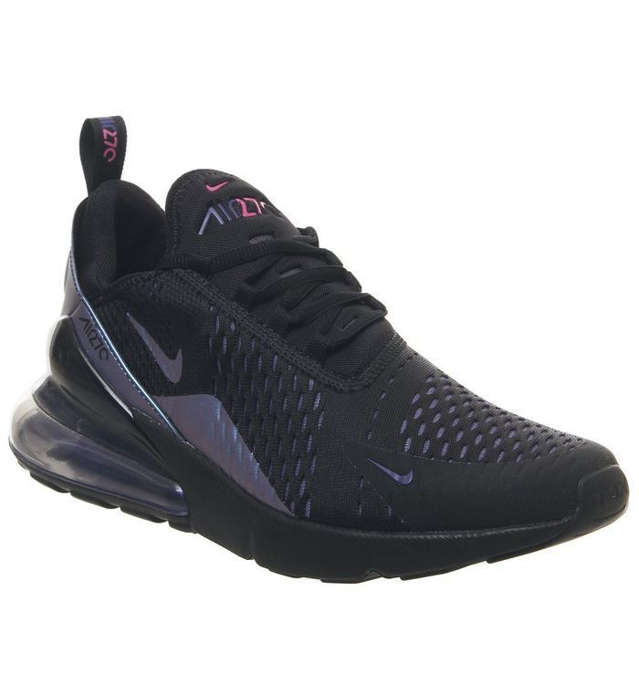 1226c8763f Air Max 270 Trainers; Nike, Air Max 270 Trainers, Black Laser Fuchsia Regency  Purple Anthracite ...