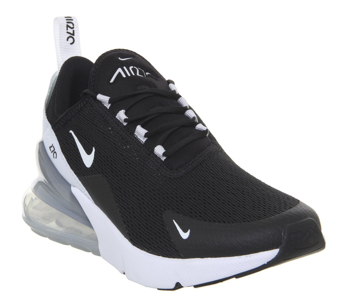 feac5dca670ed Nike Air Max 270 Trainers Black White Pure Platinum White - Hers ...