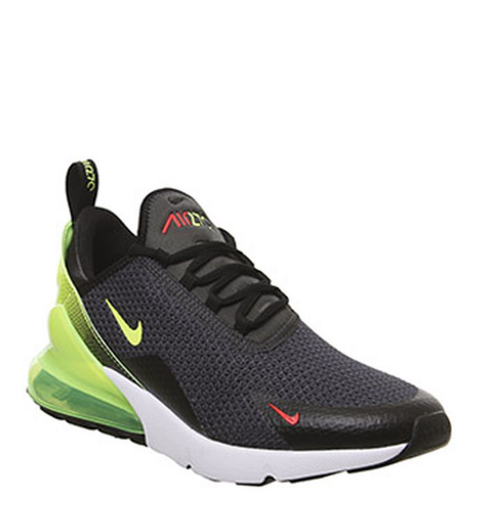 57971d8d60aa Launching 11-04-2019 · Nike Air Max 270 Trainers Anthracite Volt Black  Crimson White