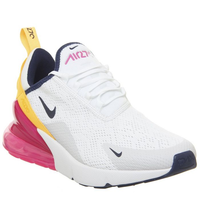 wholesale dealer 8540a a5ab0 Nike Air Max 270 Trainers Washed Coral Black Laser Fuchsia Orange ...