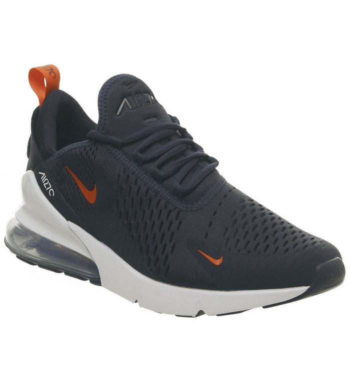best sneakers 22009 b2d0f Nike Air Max 270 Trainers Obsidian White Team Orange Gel ...