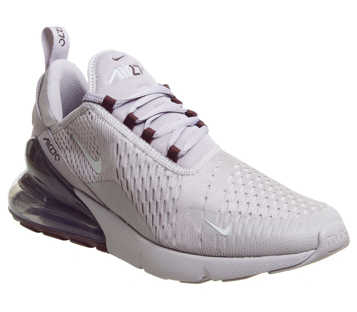 7245ca579787d Nike Air Max 270 Trainers Atmosphere Grey Silver Burgundy Crush ...