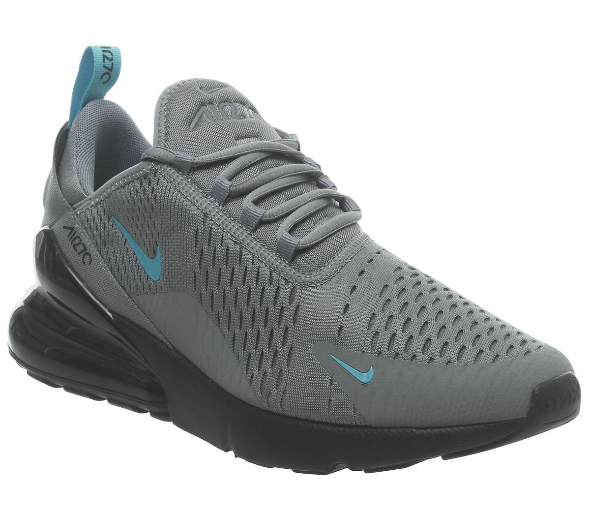 e07214255e2be Nike Air Max 270 Trainers Cool Grey Blue Fury Black - His trainers