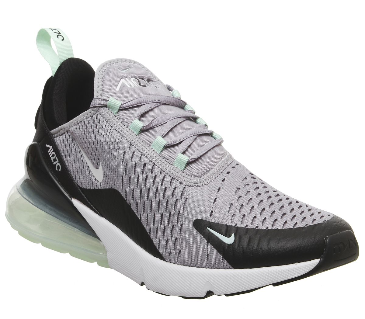 5327c1e76025b Nike Air Max 270 Trainers Atmosphere Grey White Fresh Mint Black ...