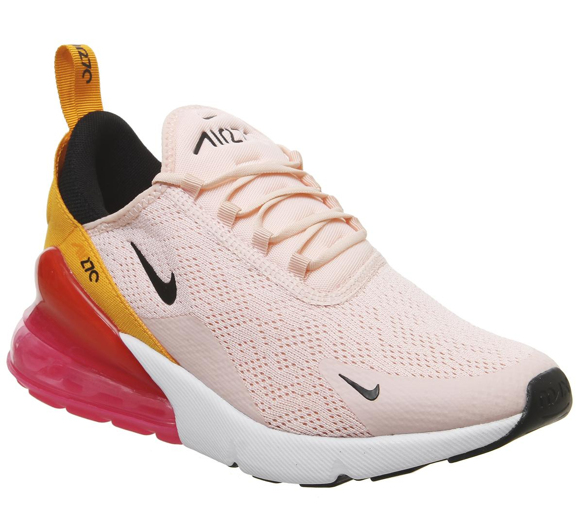 Nike Air Max 270 Trainers Washed Coral Black Laser Fuchsia