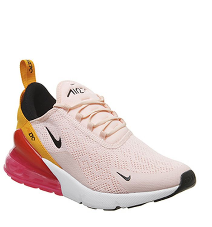 57185b718559 Launching 11-04-2019 · Nike Air Max 270 Trainers Washed Coral Black Laser  Fuchsia Orange Peel