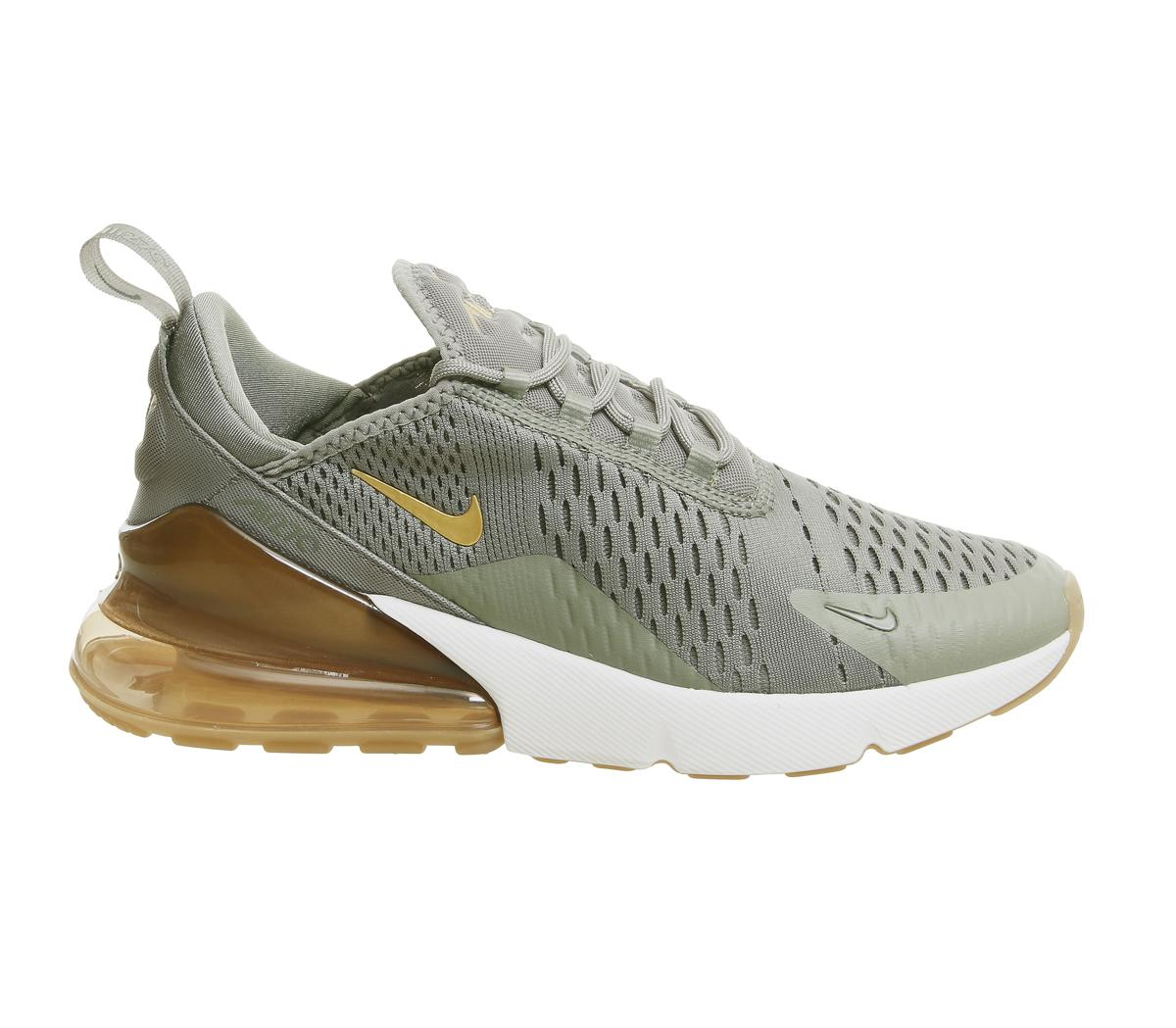 Nike Air Max 270 Trainers Dark Stucco Met Gold F - Sneaker damen