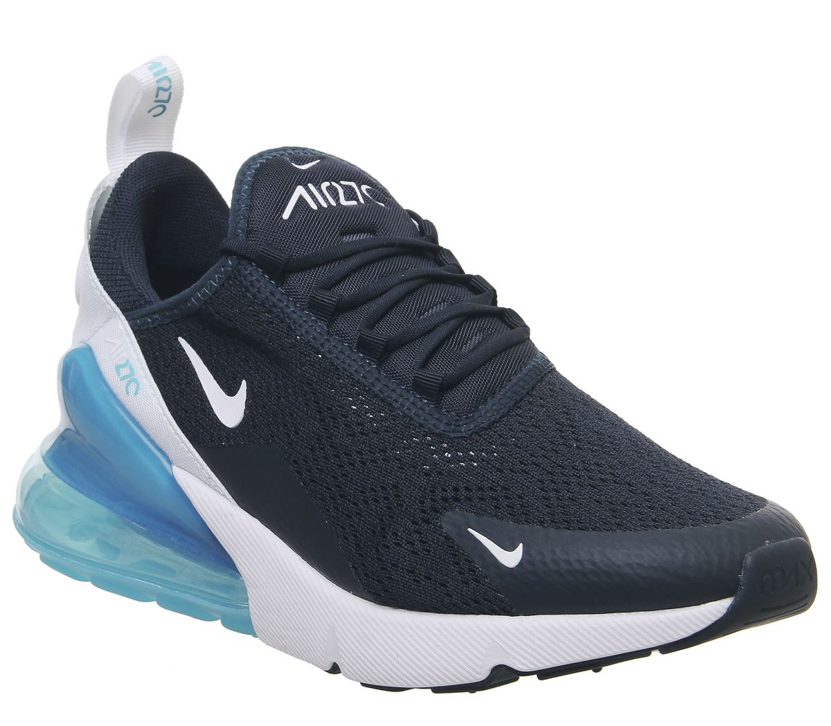 separation shoes f9f26 0bead Nike Air Max 270 Trainers Armory Navy White Blue Force White ...