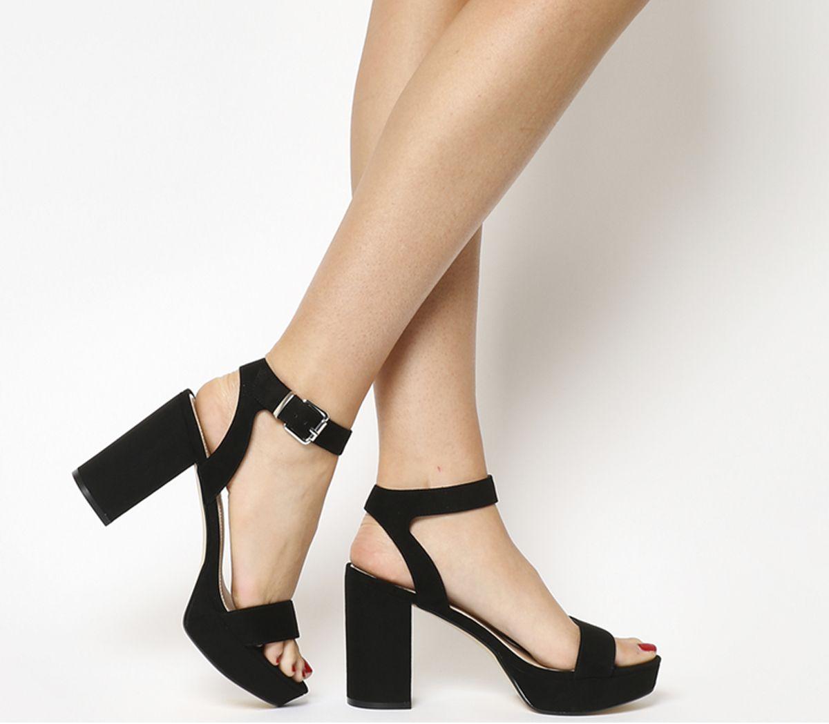 e239fd3bf9 Office Mossy Platform Sandals Black - Mid Heels