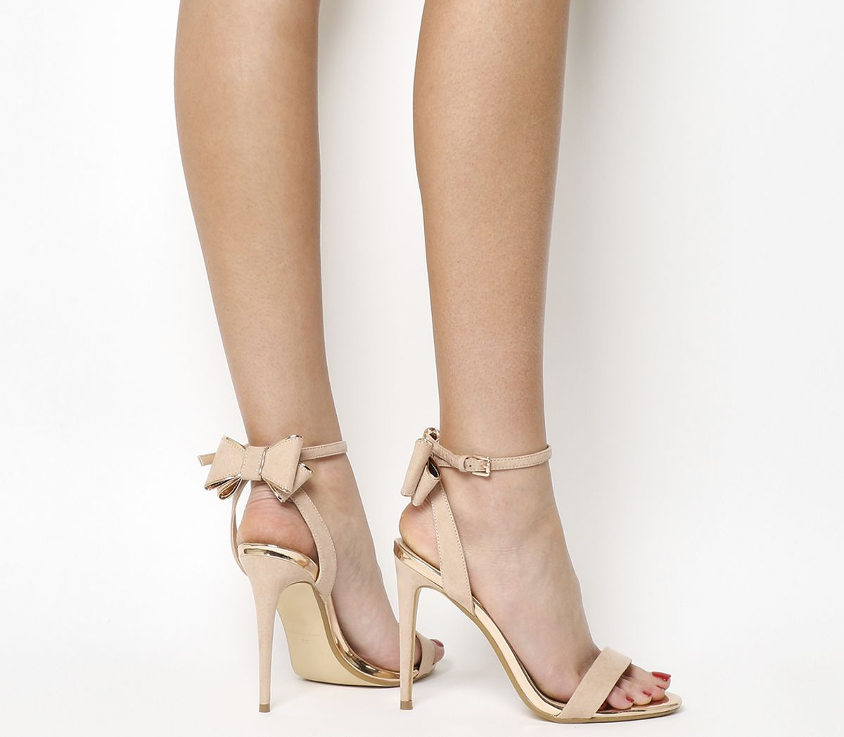 df57f491ff0e Office Helena Bow Back Heels Nude Rose Gold - High Heels