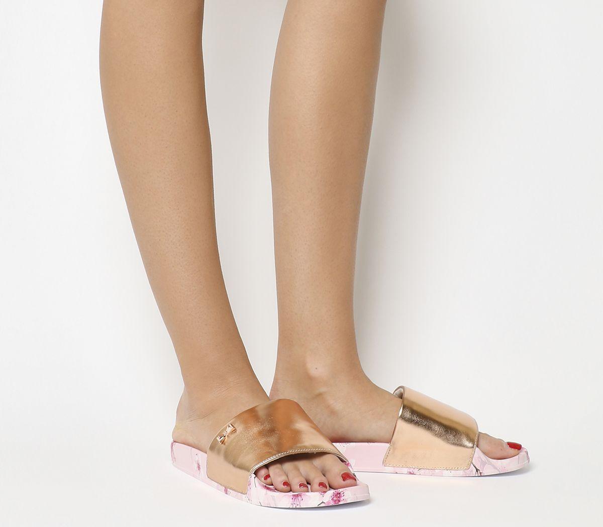 416cf7836 Ted Baker Aveline Slides Blossom Print - Sandals