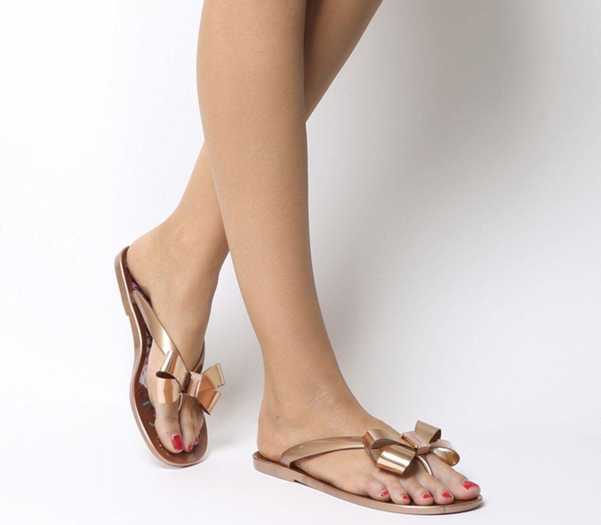 7a5062f2b Ted Baker Susziep Flip Flops Rose Gold Serenity - Sandals
