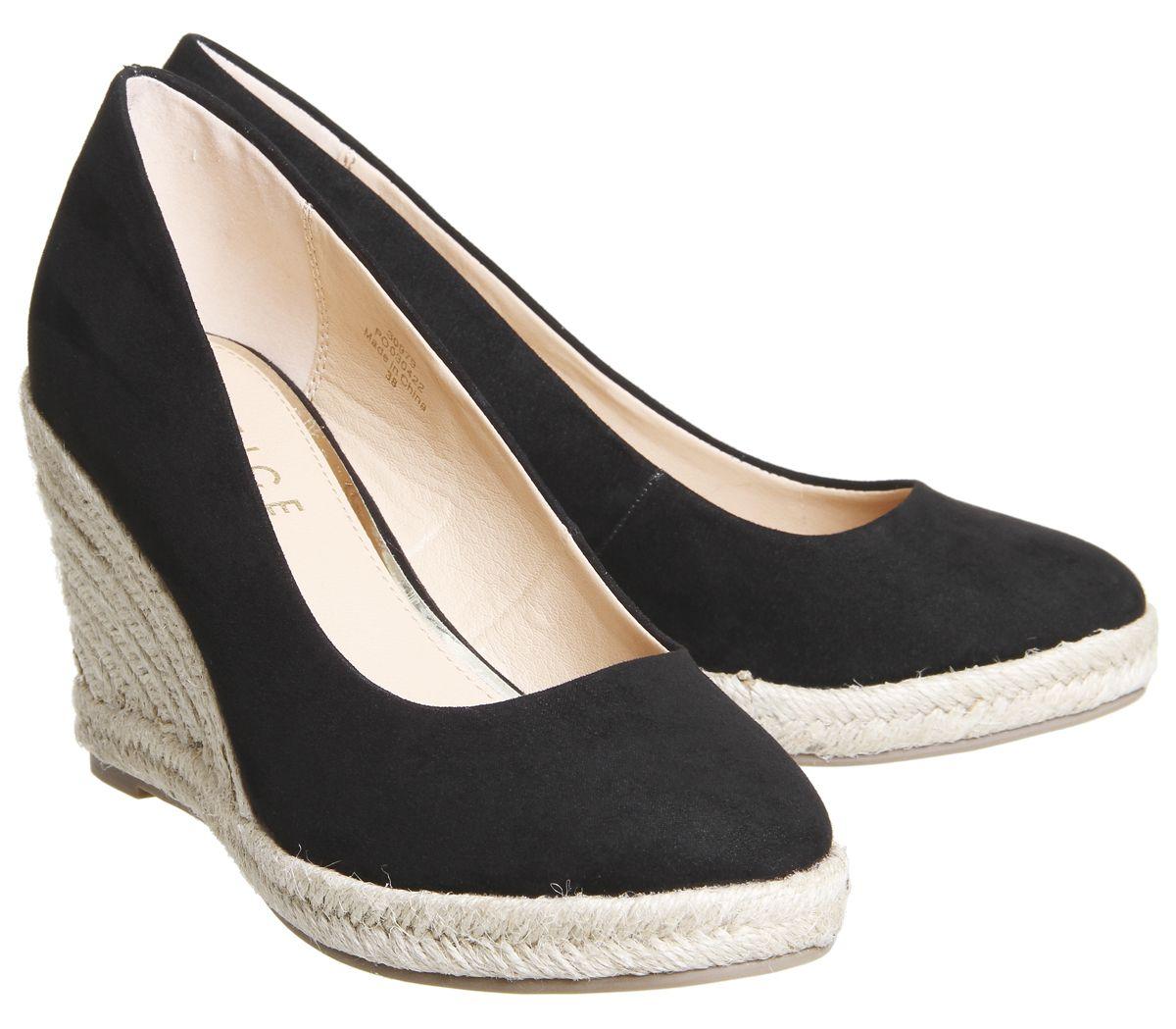 9157a052c729a Office Marbella Closed Toe Espadrilles Black - Mid Heels