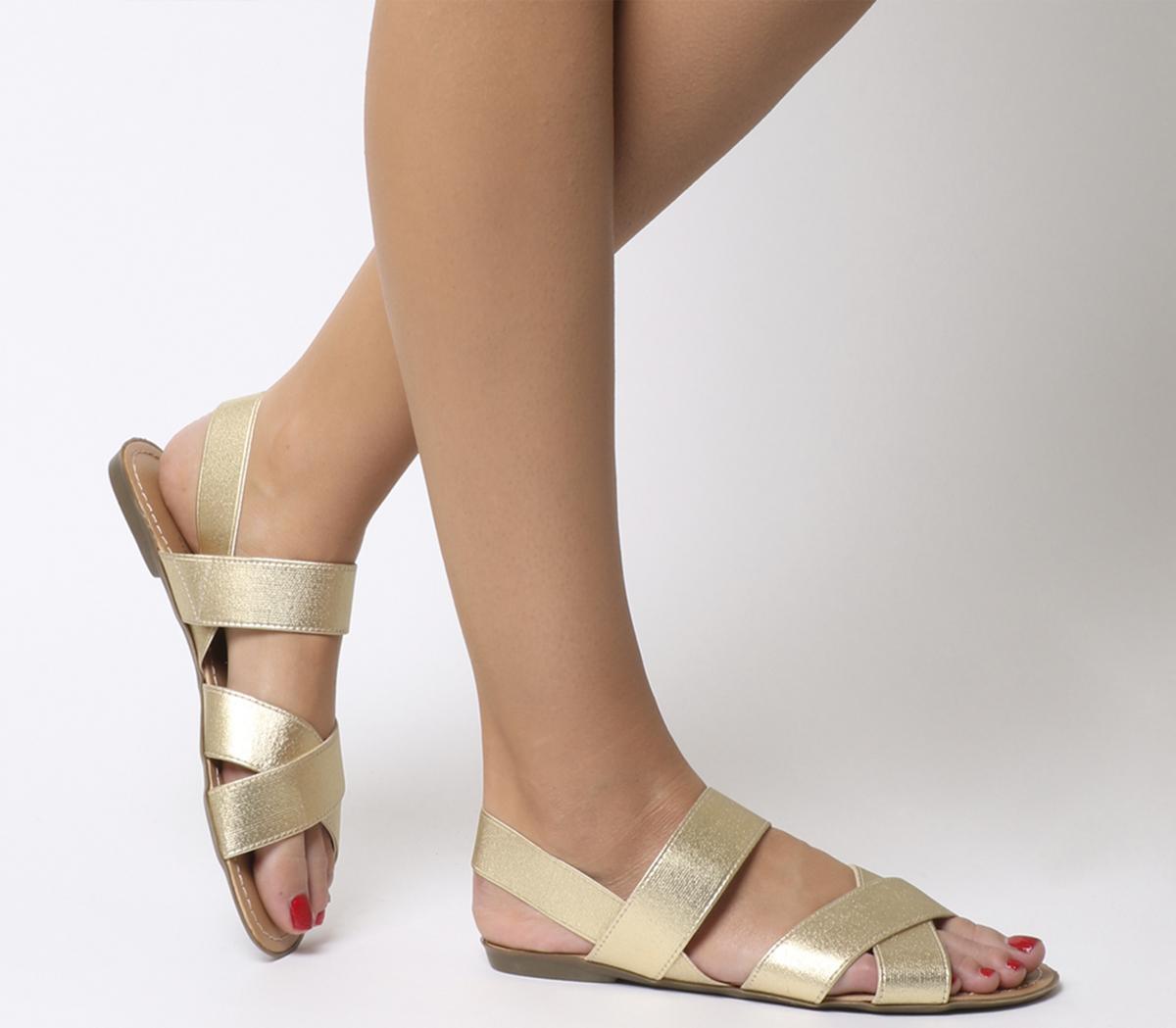 Skippy Elastic Cross Strap Sandals