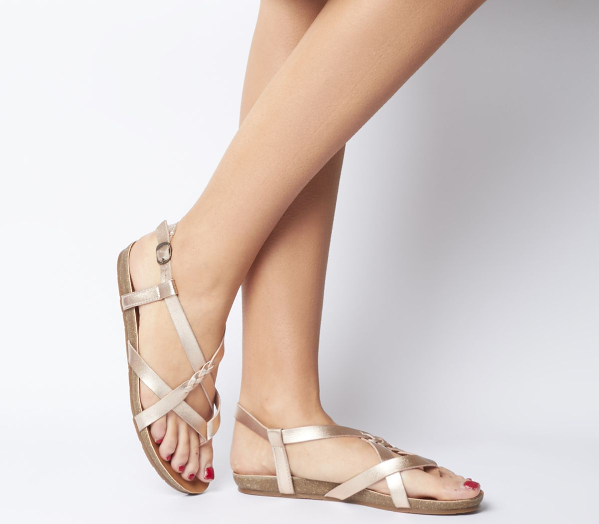 386ac475c796 Blowfish Granola B Sandals Rose Gold Dye Cut - Sandals