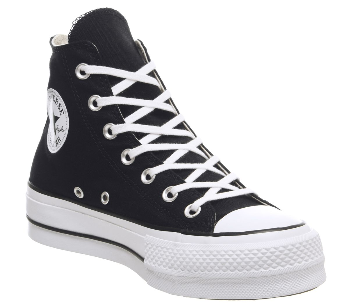 fe233ac1086755 Converse All Star Lift Hi Black White - Hers trainers