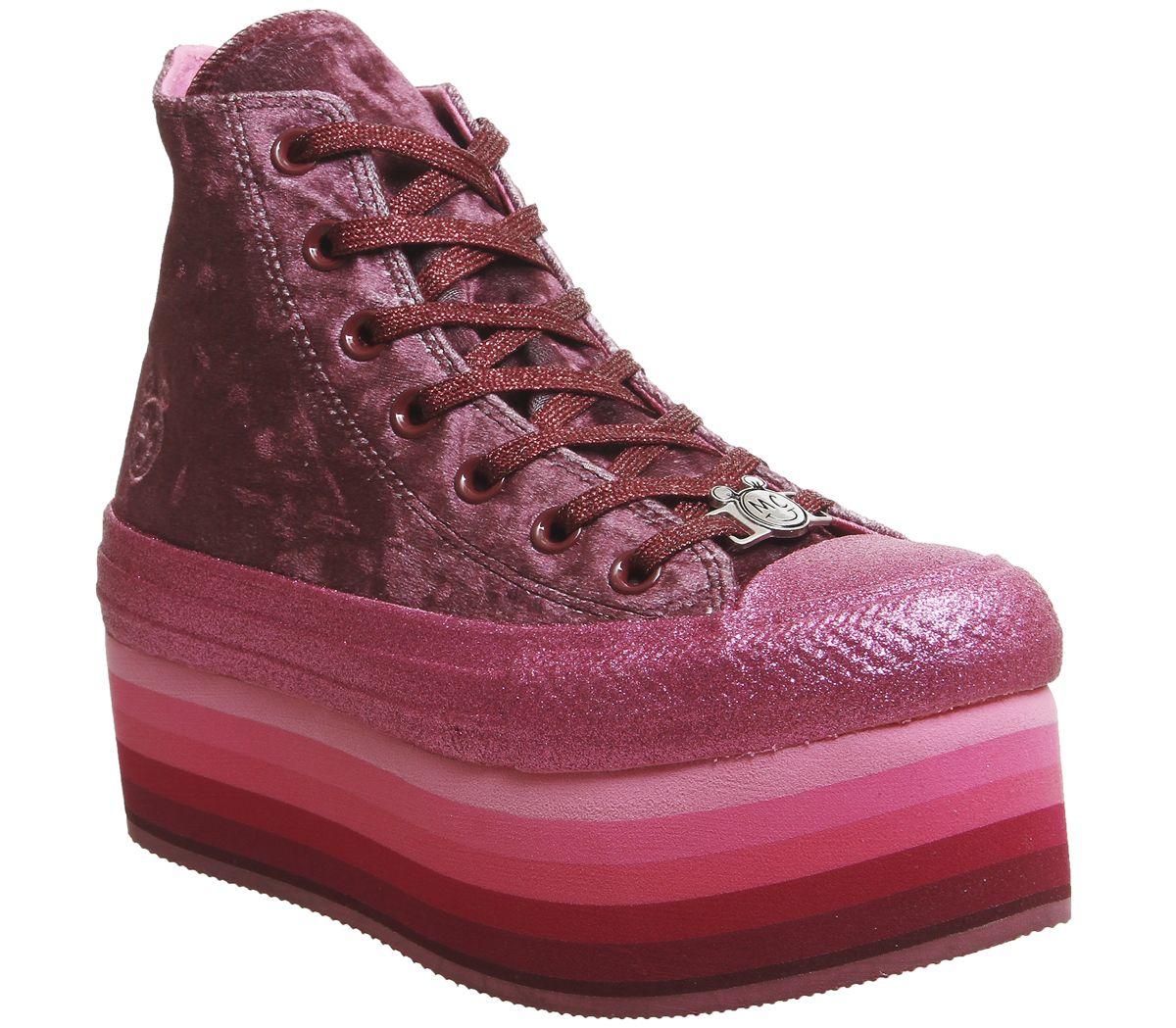 d95ebabd53f8 Converse All Star Lift Hi Trainers Dark Burgundy Pink X Mc - Hers ...