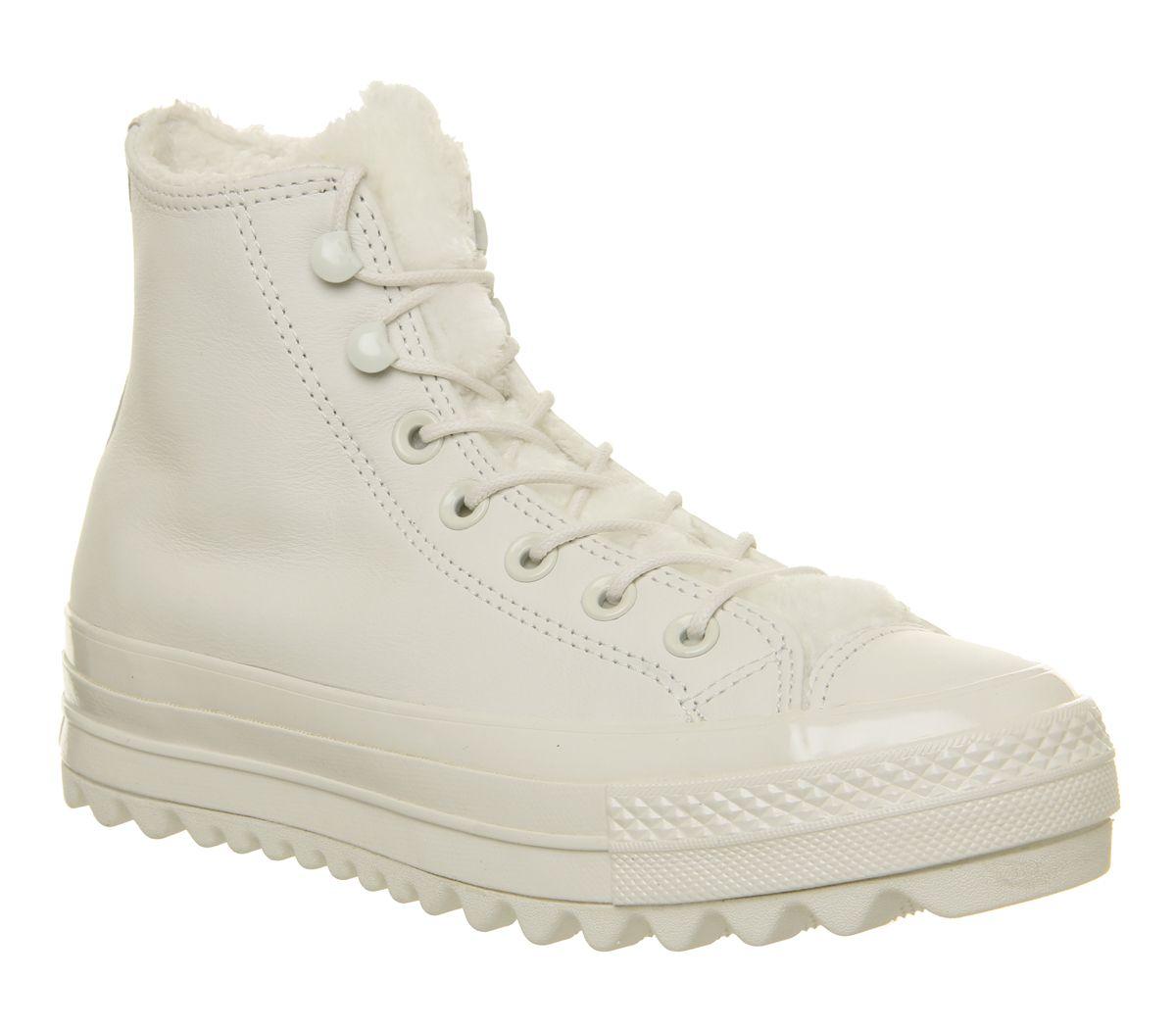 1ec0a0beeaed7e Converse Chuck Taylor All Star Lift Ripple Hi Trainers Vintage White ...