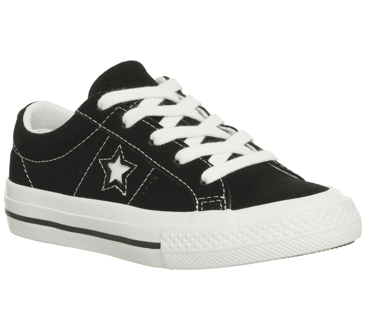 d5c12ba4c74a8b Converse One Star Youth Trainers Black White - Unisex