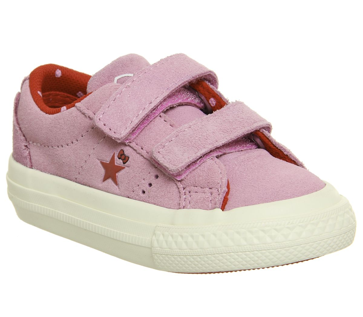 save off 63e44 3af83 Converse One Star Infant Trainers Pink White Hello Kitty - Unisex