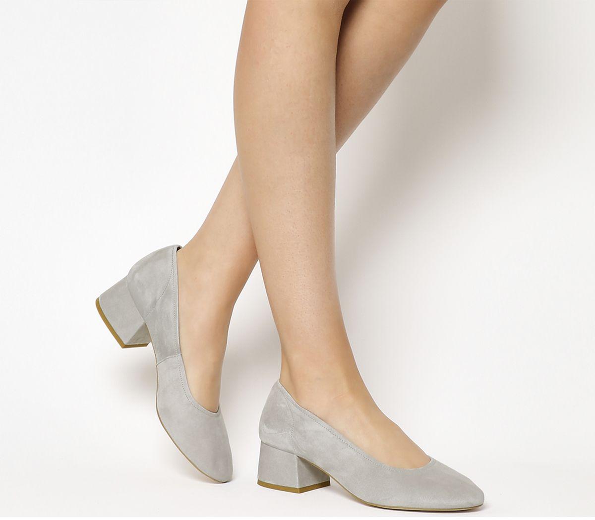 b60eea848d9 Office Maze Soft Topline Block Heels Grey Suede - Mid Heels