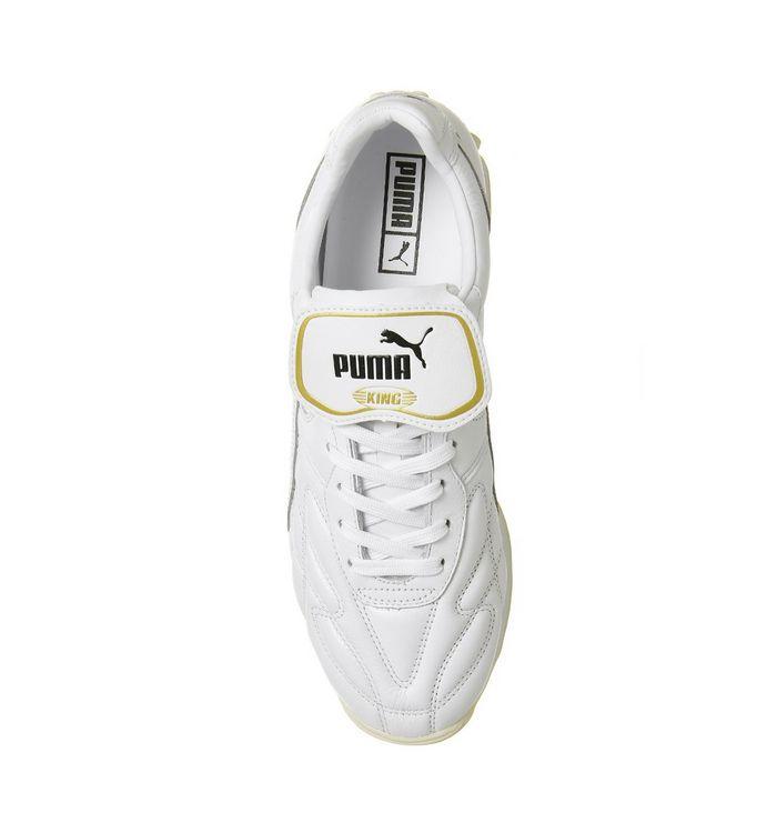 1ece8e44 Puma King Avanti Premium Trainers Puma White Team Gold - Unisex Sports