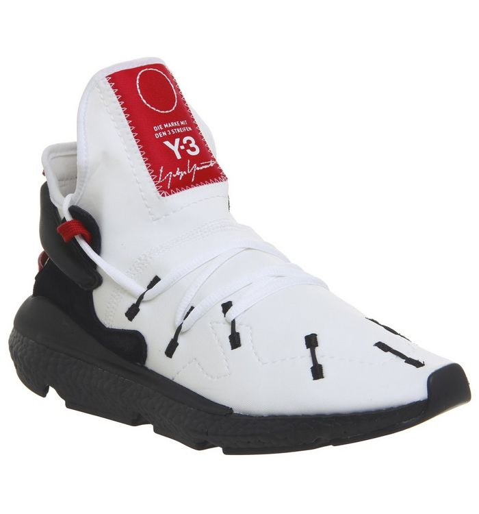 dba2e4c492373 adidas Y3 Y-3 Kusari II Trainers White Black Red Boost - Unisex Sports