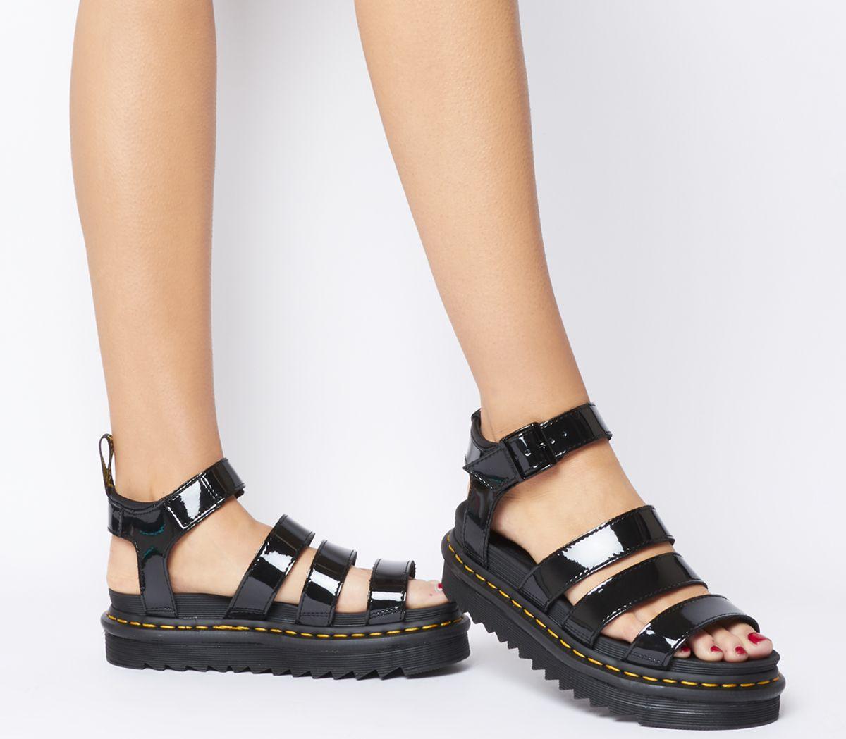 10df40b4 Dr. Martens V Blaire Sandals Black Patent - Sandals