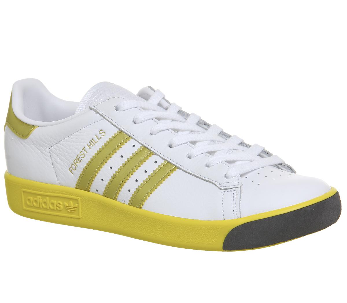 adidas Forest Hills Trainers White Gold