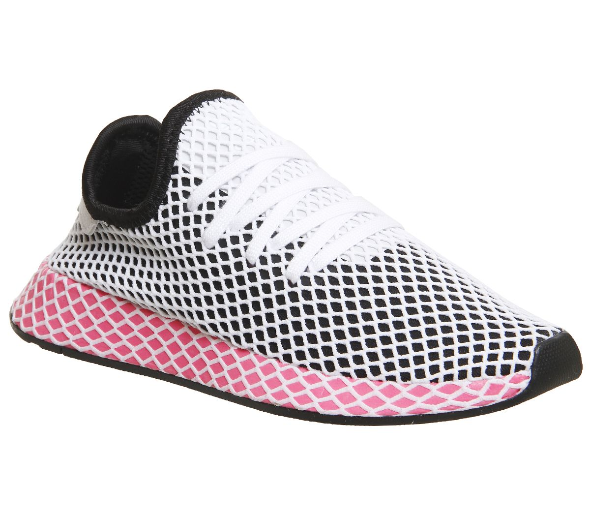 a4261a380 adidas Deerupt Trainers Core Black Chalk Pink - Unisex Sports