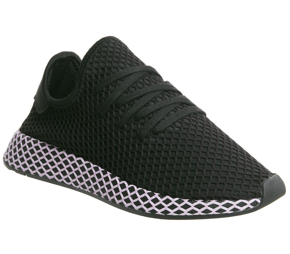 0b377b76d4db7 adidas Deerupt Trainers Core Black Clear Lilac F - Hers trainers