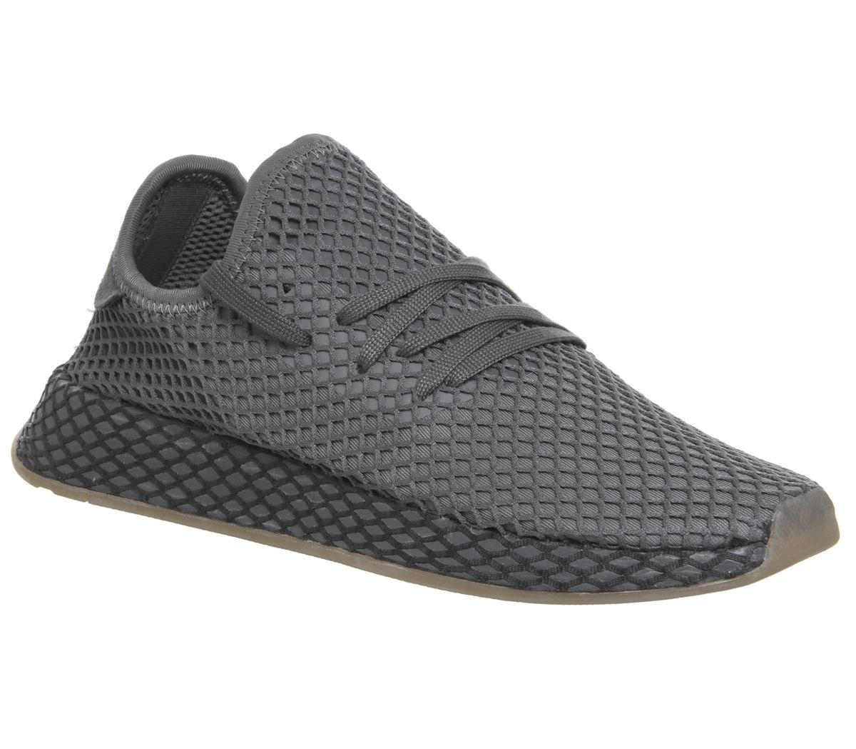 b7ab92f8b adidas Deerupt Trainers Grey Grey White - Unisex Sports