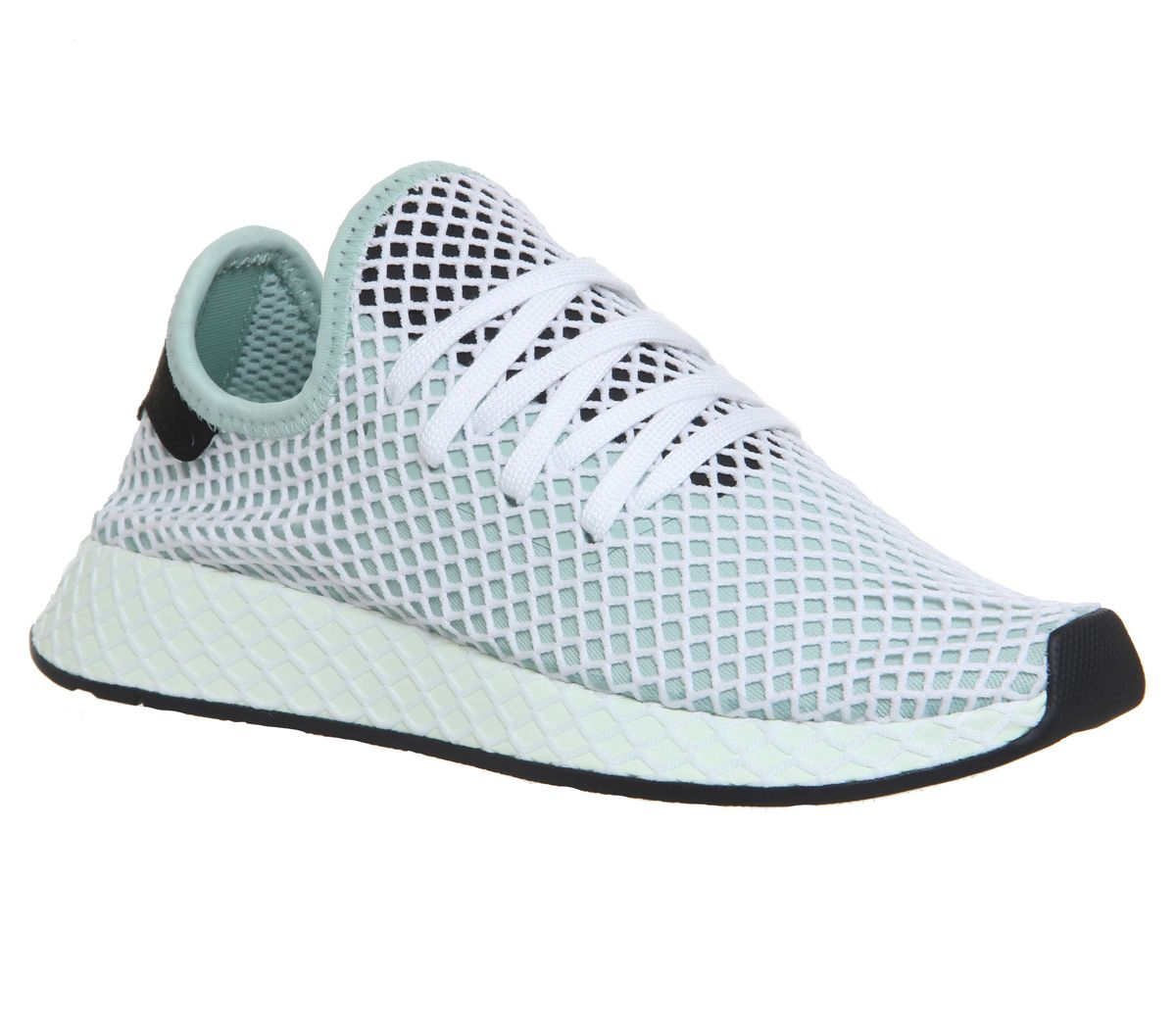 6060df4a0 adidas Deerupt Trainers Ash Green Core Black W - Hers trainers