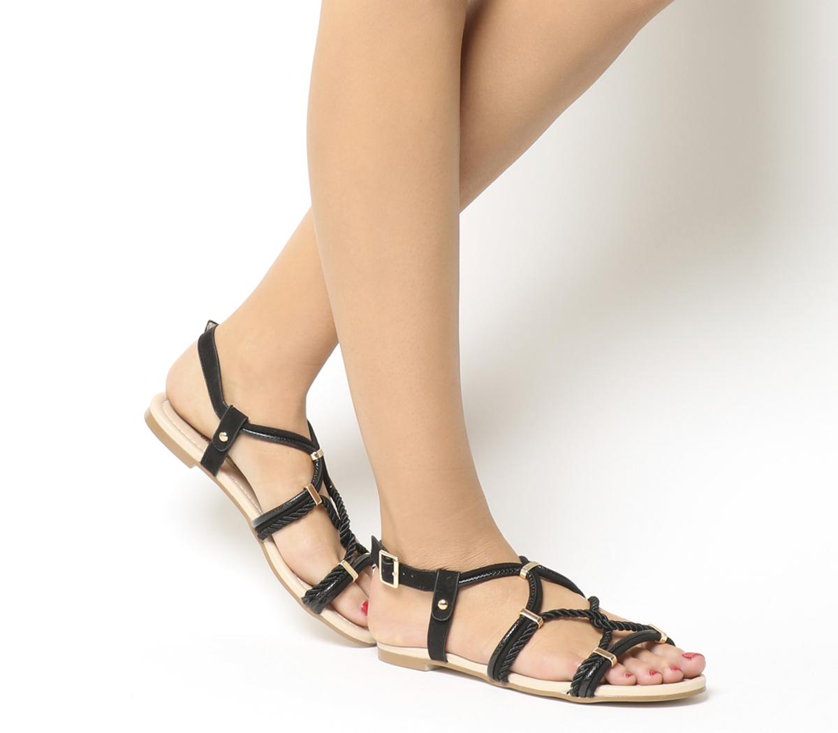 Serengeti Metal Detail Strappy Sandals