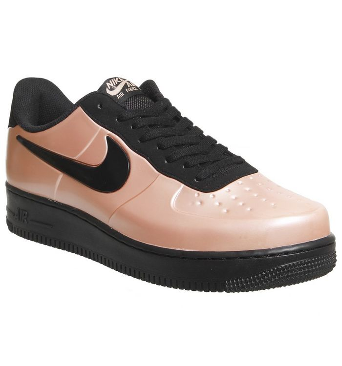 06b95ad6ad7 Nike Air Force 1 Foamposite Pro Trainers Coral Stardust Black - His ...