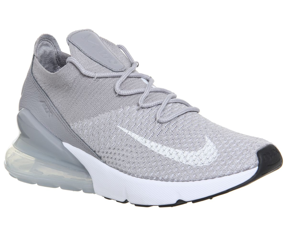 newest db9c2 3c55d Nike Air Max 270 Flyknit Trainers Atmosphere Grey White Pure ...