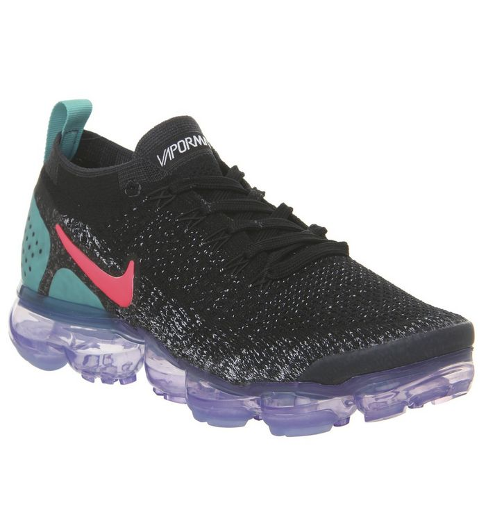 5bc5f289ad514 Nike Air Vapormax Flyknit 2 Trainers Black Hot Punch White Dusty ...