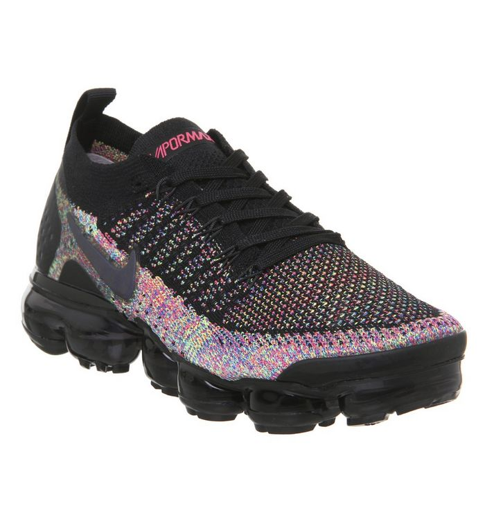 c0a47fc65567 Nike Vapormax Air Vapormax Flyknit 2 Trainers Black Racer Pink Racer ...