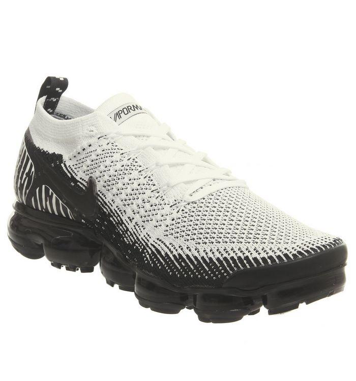 52ca65b249013 Nike Vapormax Air Vapormax Flyknit 2 Safari Zebra White Black Total ...