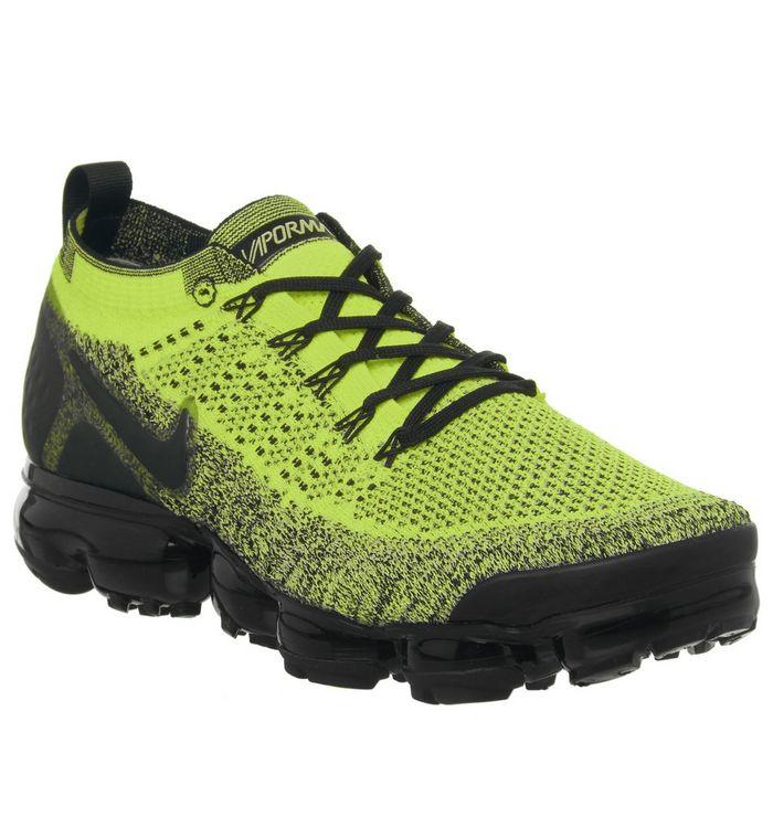 8e7c5e38eaad2 Nike Vapormax Air Vapormax Flyknit 2 Trainers Volt Black Volt - His ...
