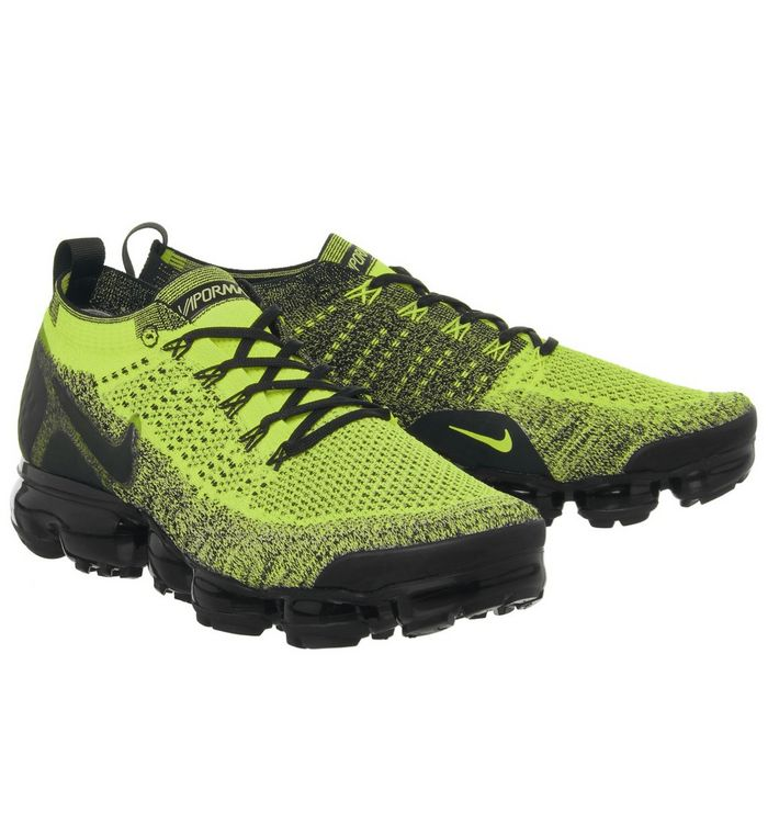 pretty nice 55424 8e368 Nike Vapormax Air Vapormax Flyknit 2 Trainers Volt Black ...