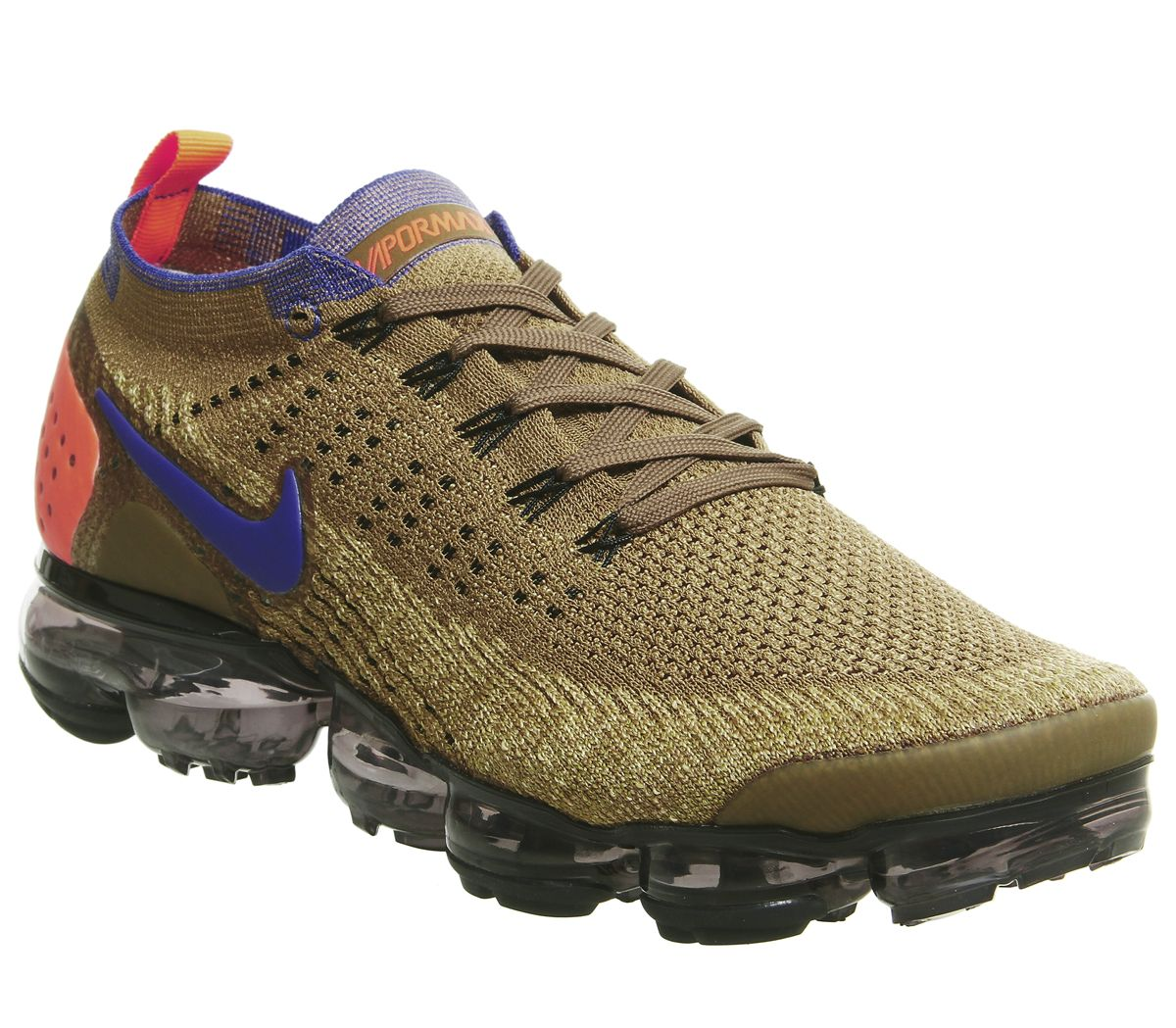 hot sale online b8e0b f3bd1 Nike Vapormax, Air Vapormax Flyknit 2 Trainers, Golden Beige Racer Blue  Club Gold Desert