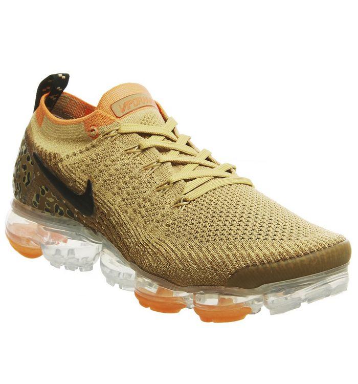 6d2472c9e191 ... Nike Vapormax, Air Vapormax Flyknit 2 Trainers, Safari Leopard Club  Gold Black Golden Beige ...