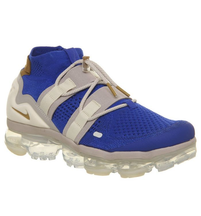 c828abc780 Air Vapormax Flyknit Utility Trainers; Nike Vapormax, Air Vapormax Flyknit  Utility Trainers, Racer Blue Muted Bronze Moon Particle ...